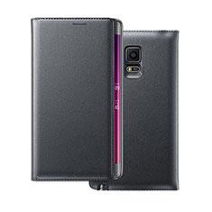 Samsung Galaxy Note Edge SM-N915F用手帳型 レザーケース サムスン ブラック