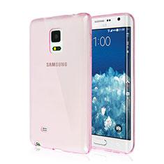 Samsung Galaxy Note Edge SM-N915F用極薄ソフトケース シリコンケース 耐衝撃 全面保護 クリア透明 サムスン ピンク