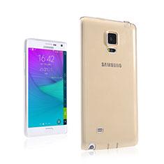 Samsung Galaxy Note Edge SM-N915F用極薄ソフトケース シリコンケース 耐衝撃 全面保護 クリア透明 サムスン ゴールド