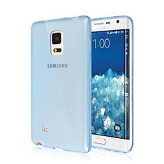 Samsung Galaxy Note Edge SM-N915F用極薄ソフトケース シリコンケース 耐衝撃 全面保護 クリア透明 サムスン ネイビー