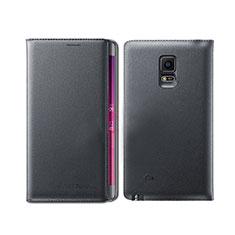 Samsung Galaxy Note Edge SM-N915F用手帳型 レザーケース スタンド L01 サムスン ブラック