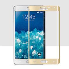 Samsung Galaxy Note Edge SM-N915F用強化ガラス フル液晶保護フィルム サムスン ゴールド