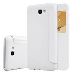 Samsung Galaxy On5 (2016) G570 G570F用手帳型 レザーケース スタンド サムスン ホワイト