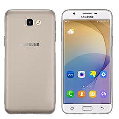 Samsung Galaxy On5 (2016) G570 G570F用極薄ソフトケース シリコンケース 耐衝撃 全面保護 クリア透明 サムスン グレー
