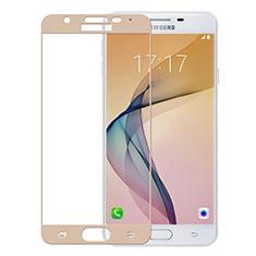 Samsung Galaxy On5 (2016) G570 G570F用強化ガラス フル液晶保護フィルム サムスン ゴールド