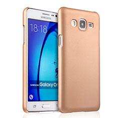 Samsung Galaxy On5 G550FY用ハードケース プラスチック 質感もマット サムスン ゴールド