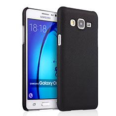 Samsung Galaxy On5 G550FY用ハードケース プラスチック 質感もマット サムスン ブラック
