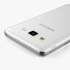 Samsung Galaxy On5 G550FY用極薄ソフトケース シリコンケース 耐衝撃 全面保護 クリア透明 サムスン クリア