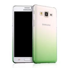 Samsung Galaxy On5 G550FY用ハードケース グラデーション 勾配色 クリア透明 サムスン グリーン