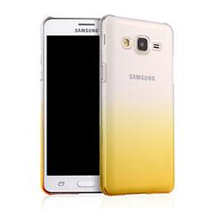 Samsung Galaxy On5 G550FY用ハードケース グラデーション 勾配色 クリア透明 サムスン イエロー