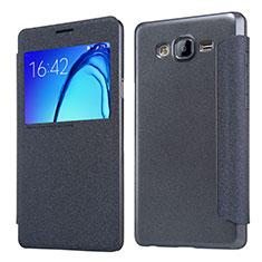 Samsung Galaxy On5 G550FY用手帳型 レザーケース スタンド サムスン ブラック