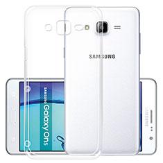 Samsung Galaxy On5 G550FY用極薄ソフトケース シリコンケース 耐衝撃 全面保護 クリア透明 R01 サムスン クリア