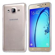 Samsung Galaxy On5 G550FY用極薄ソフトケース シリコンケース 耐衝撃 全面保護 クリア透明 T03 サムスン クリア