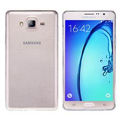 Samsung Galaxy On7 G600FY用極薄ソフトケース シリコンケース 耐衝撃 全面保護 クリア透明 T03 サムスン クリア