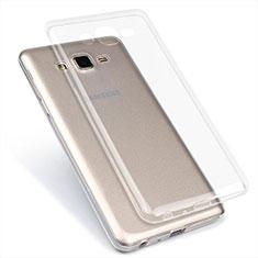 Samsung Galaxy On7 Pro用極薄ソフトケース シリコンケース 耐衝撃 全面保護 クリア透明 T02 サムスン クリア
