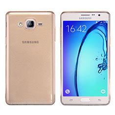 Samsung Galaxy On7 Pro用極薄ソフトケース シリコンケース 耐衝撃 全面保護 クリア透明 T03 サムスン ゴールド
