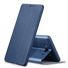 Samsung Galaxy On7 Pro用手帳型 レザーケース スタンド カバー S01 サムスン ネイビー