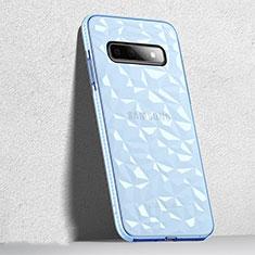 Samsung Galaxy S10 5G用極薄ソフトケース シリコンケース 耐衝撃 全面保護 クリア透明 S04 サムスン ブラック