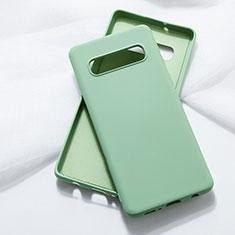 Samsung Galaxy S10 5G用360度 フルカバー極薄ソフトケース シリコンケース 耐衝撃 全面保護 バンパー C05 サムスン グリーン