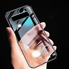 Samsung Galaxy S10 5G用極薄ソフトケース シリコンケース 耐衝撃 全面保護 クリア透明 T02 サムスン ブラック