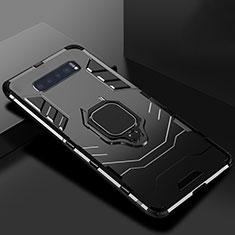 Samsung Galaxy S10 5G用ハイブリットバンパーケース スタンド プラスチック 兼シリコーン カバー サムスン ブラック