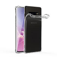 Samsung Galaxy S10 5G用極薄ソフトケース シリコンケース 耐衝撃 全面保護 クリア透明 T06 サムスン クリア
