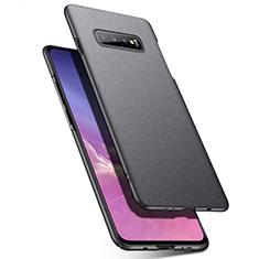 Samsung Galaxy S10用ハードケース プラスチック 質感もマット カバー P02 サムスン ダークグレー