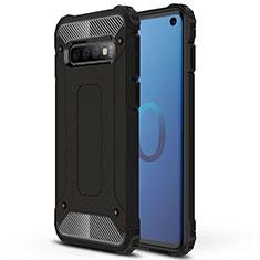 Samsung Galaxy S10用ハイブリットバンパーケース プラスチック 兼シリコーン カバー R01 サムスン ブラック