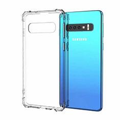 Samsung Galaxy S10用極薄ソフトケース シリコンケース 耐衝撃 全面保護 クリア透明 S03 サムスン クリア