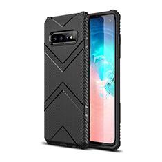 Samsung Galaxy S10用360度 フルカバー極薄ソフトケース シリコンケース 耐衝撃 全面保護 バンパー C06 サムスン ブラック