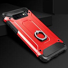 Samsung Galaxy S10用ハイブリットバンパーケース プラスチック アンド指輪 兼シリコーン カバー H01 サムスン レッド