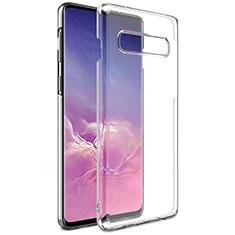 Samsung Galaxy S10用極薄ソフトケース シリコンケース 耐衝撃 全面保護 クリア透明 K01 サムスン クリア