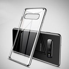 Samsung Galaxy S10用極薄ソフトケース シリコンケース 耐衝撃 全面保護 クリア透明 H02 サムスン ブラック