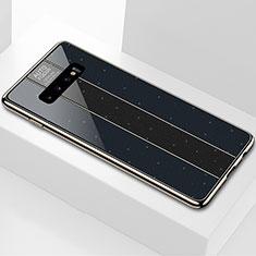 Samsung Galaxy S10用ハイブリットバンパーケース プラスチック 鏡面 カバー A01 サムスン ブラック