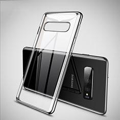 Samsung Galaxy S10用極薄ソフトケース シリコンケース 耐衝撃 全面保護 クリア透明 S02 サムスン シルバー