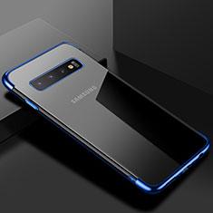 Samsung Galaxy S10用極薄ソフトケース シリコンケース 耐衝撃 全面保護 クリア透明 S03 サムスン ネイビー