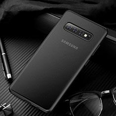 Samsung Galaxy S10用極薄ケース クリア透明 プラスチック 質感もマットU01 サムスン ブラック