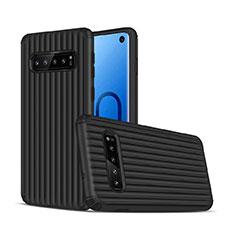 Samsung Galaxy S10用ハイブリットバンパーケース プラスチック 兼シリコーン カバー U01 サムスン ブラック