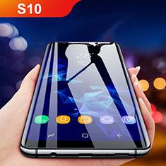 Samsung Galaxy S10用強化ガラス フル液晶保護フィルム F05 サムスン ブラック