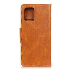 Samsung Galaxy S10 Lite用手帳型 レザーケース スタンド カバー サムスン オレンジ