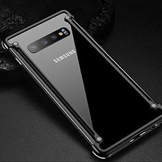 Samsung Galaxy S10 Plus用ケース 高級感 手触り良い アルミメタル 製の金属製 バンパー カバー T01 サムスン ブラック