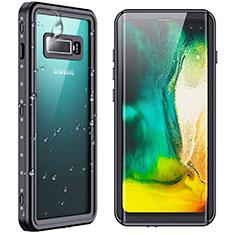 Samsung Galaxy S10 Plus用完全防水ケース ハイブリットバンパーカバー 高級感 手触り良い 360度 W01 サムスン ブラック