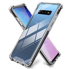 Samsung Galaxy S10 Plus用極薄ソフトケース シリコンケース 耐衝撃 全面保護 クリア透明 K01 サムスン クリア