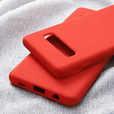Samsung Galaxy S10 Plus用極薄ソフトケース シリコンケース 耐衝撃 全面保護 サムスン レッド