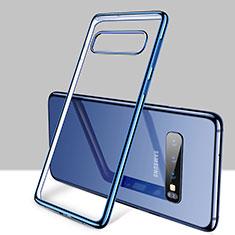 Samsung Galaxy S10 Plus用極薄ソフトケース シリコンケース 耐衝撃 全面保護 クリア透明 H01 サムスン ネイビー