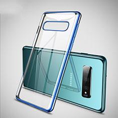 Samsung Galaxy S10 Plus用極薄ソフトケース シリコンケース 耐衝撃 全面保護 クリア透明 S02 サムスン ネイビー