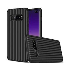 Samsung Galaxy S10 Plus用ハイブリットバンパーケース プラスチック 兼シリコーン カバー U01 サムスン ブラック