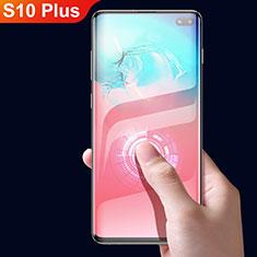 Samsung Galaxy S10 Plus用強化ガラス フル液晶保護フィルム F05 サムスン ブラック