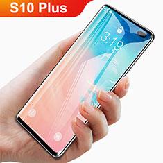 Samsung Galaxy S10 Plus用強化ガラス フル液晶保護フィルム F06 サムスン ブラック