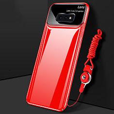 Samsung Galaxy S10e用ハードケース プラスチック 質感もマット カバー P02 サムスン レッド
